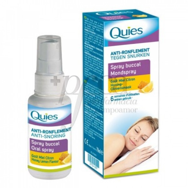 QUIES SPRAY BUCAL ANTIRRONQUIDOS MIEL Y