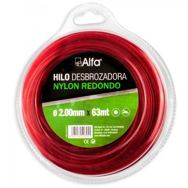 Hilo desbrozadora nylon 2,00 mm. 63 m.