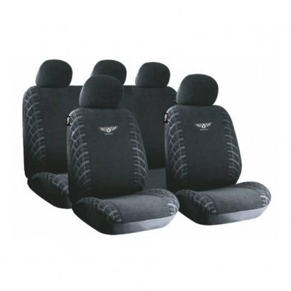 Fundas asientos textiles negro vermont i