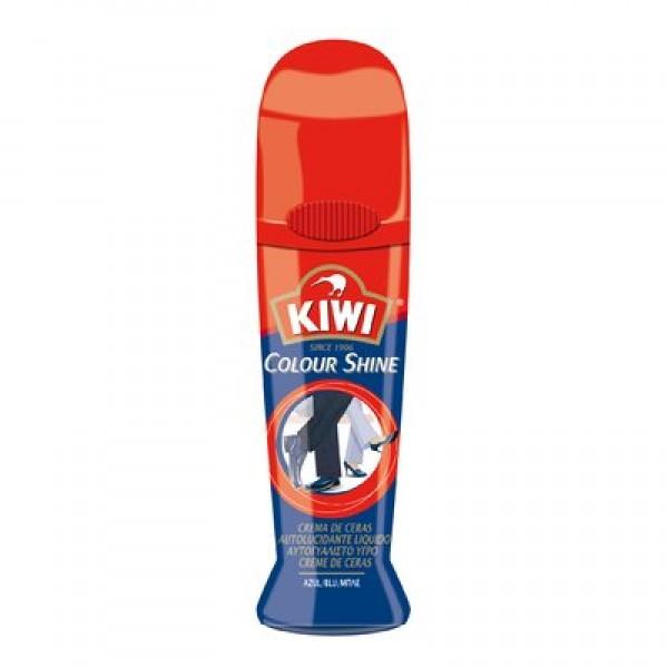 Kiwi Colour Shine crema grasa de ceras para calzado azul 75ml