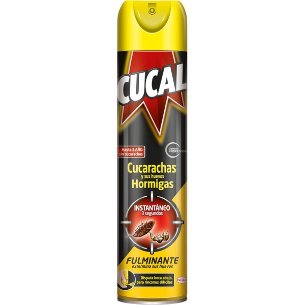 Cucal insecticida cucarachas, sus huevos y hormigas spray 400 ml