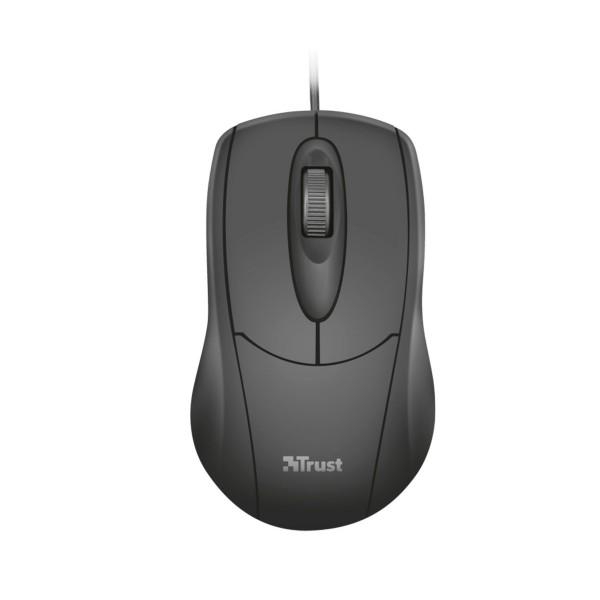 Trust ziva ratón óptico 3 botones 1200dpi cable usb