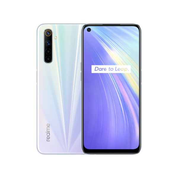 Realme 6 comet white 4g dual sim 6.5'' ips fhd+/8core/128gb/8gb ram/64+8+2+2mp/16mp