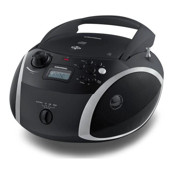 Grundig rcd 1500 bt negro radiocasete con radio fm CD usb mp3 alimentación con batería o enchufe