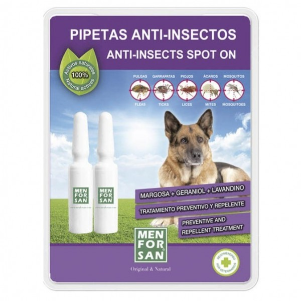 MEN FOR SAN PIPETAS ANTI-INSECTOS PARA PERROS 2U