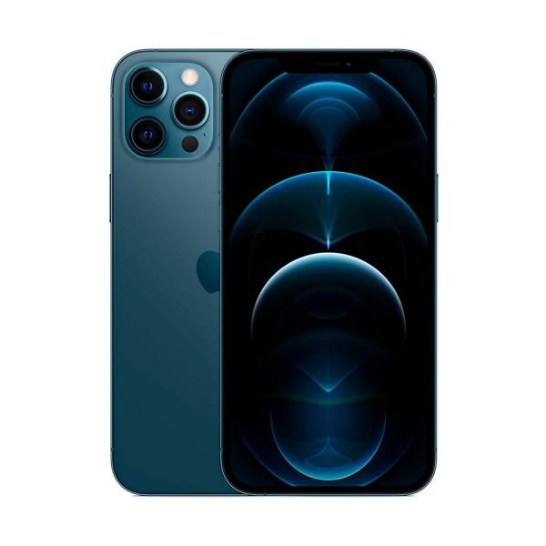 Apple iphone 12 pro max azul móvil dual sim 5g 6.7'' oled super retina xdr cpu a14 bionic 256gb 6gb ram tricam 12mp selfies 12mp