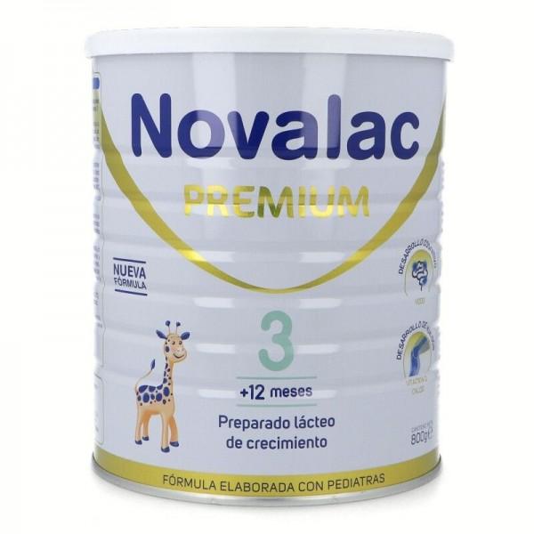 Novalac leche infantil Premium 3  crecimiento 1-3 AÑOS 800 Gramos
